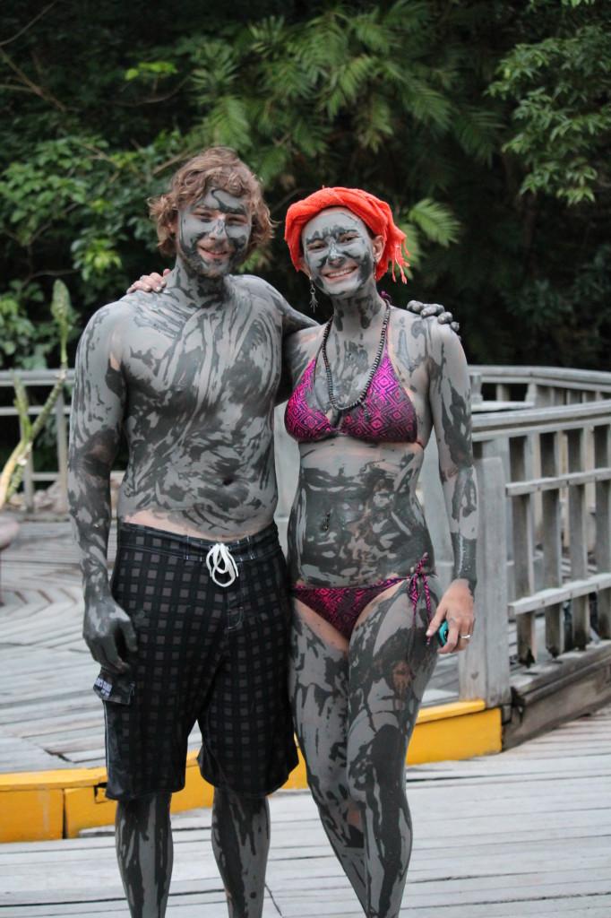 Volcanic mud baths in Nicoya, Costa Rica