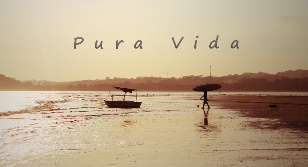 Pura Vida Costa Rica beach
