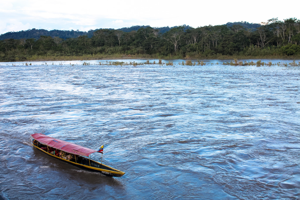 Amazon rainforest canoe