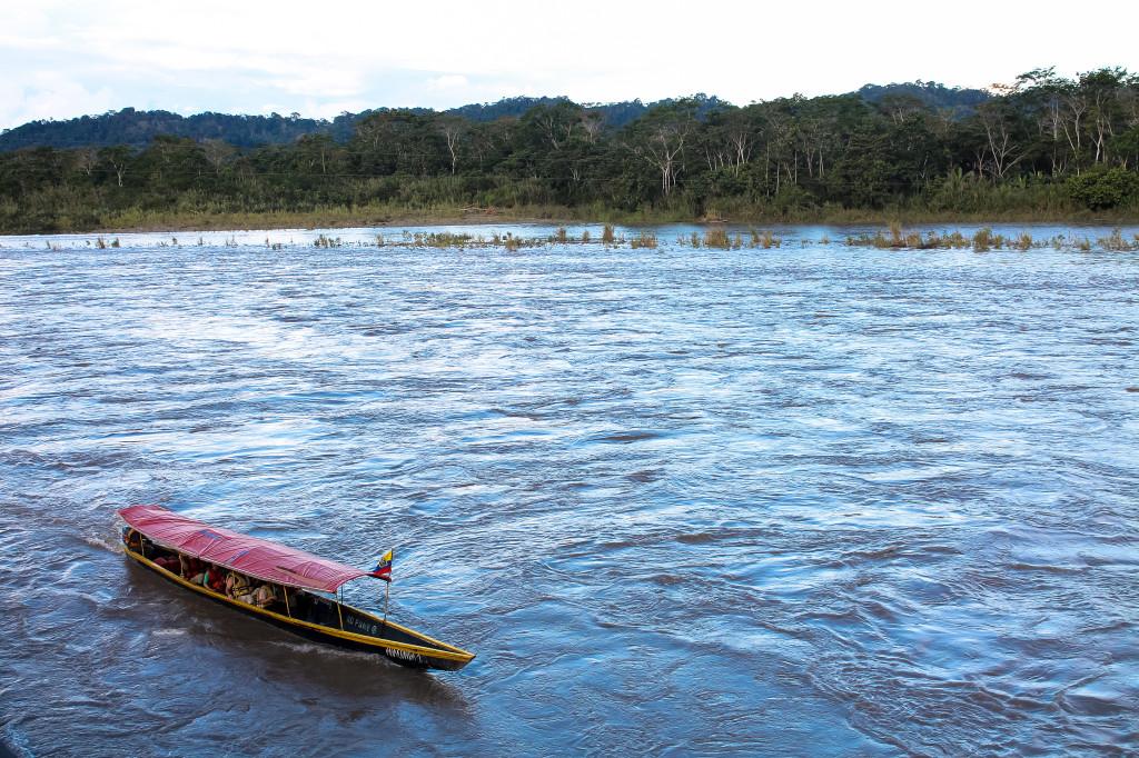 Amazon rainforest canoe